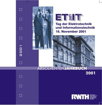 Jahrbuch 2001 - Tag der Elektrotechnik und Informationstechnik 2012
