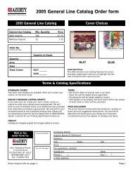 2005 General Line Catalog Order form - Azerty.com