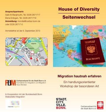 House of Diversity Seitenwechsel Migration ... - Frühe Hilfen Bonn