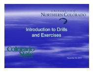 Introduction to Introduction to Drills and Exercises Exercises