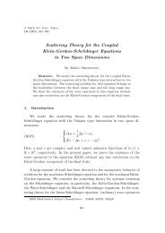 Scattering Theory for the Coupled Klein-Gordon-Schrödinger ...