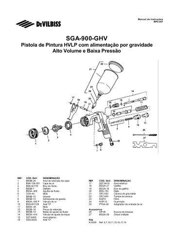 Pistola Devilbiss SGA-900 - Raoli
