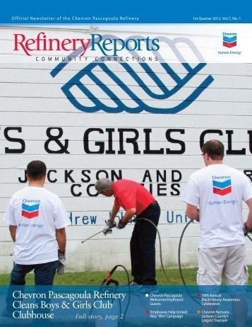 1st Quarter 2012 - Chevron Pascagoula Refinery
