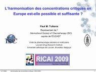 concentrations critiques cliniques