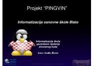 "Projekt ""PINGVIN"" - CARNet"