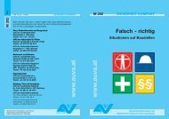 Merkblatt Falsch - richtig / Situationen auf Baustellen M 202