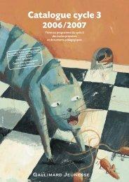 Catalogue cycle 3 - Gallimard Jeunesse
