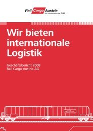 Wir bieten internationale Logistik - ÖBB