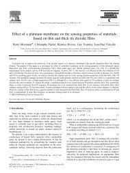 Effect of a platinum membrane on the sensing properties of ... - UMEL
