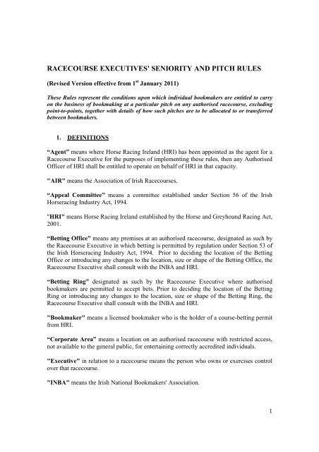 Irish horse racing betting rules all australian team 2021 betting websites