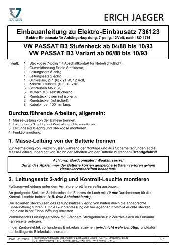 Einbauanleitung - Rameder Anhängerkupplungen und Autoteile ...