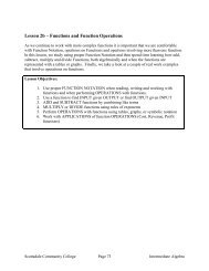 Lesson 2b – Functions and Function Operations - Scottsdale ...