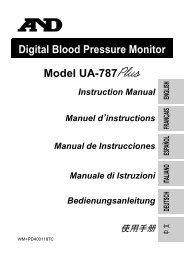 Digital Blood Pressure Monitor Model UA-787 Instruction Manual ...