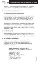 formulaire inscription sqla - Bibliothèque et Archives nationales du ...