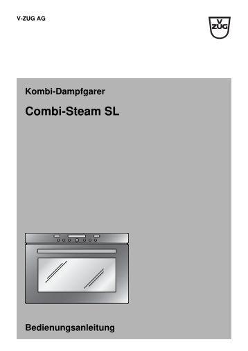 rezeptbuch combi steam sl xsl pdf 4 9 mb v zug ltd. Black Bedroom Furniture Sets. Home Design Ideas