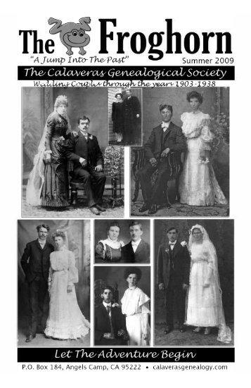 Summer 2009 - Calaveras Genealogical Society