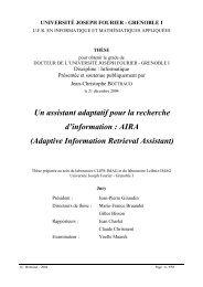 Un assistant adaptatif pour la recherche d'information : AIRA ... - MRIM