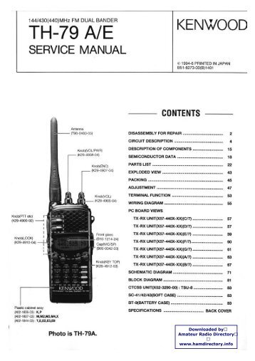 Kenwood th 28a service Manual