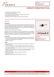 LANmark-5 UniBoot Patch Cords - Nexans