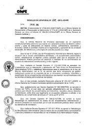 Resolución Jefatural N° 229-2012-J/ONPE que aprueba TUPA vigente