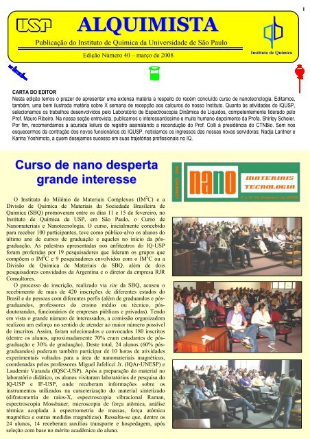 Alquimista nº 40 - Instituto de Química - USP
