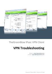 IPSec VPN Client Troubleshootings - TheGreenBow
