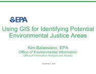 Using GIS for Identifying Potential Environmental Justice Areas