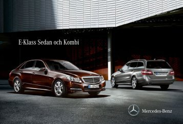 E-Klass Sedan och Kombi - Mercedes-Benz