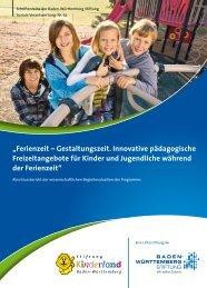 """""""Ferienzeit – Gestaltungszeit. Innovative pädagogische ..."""