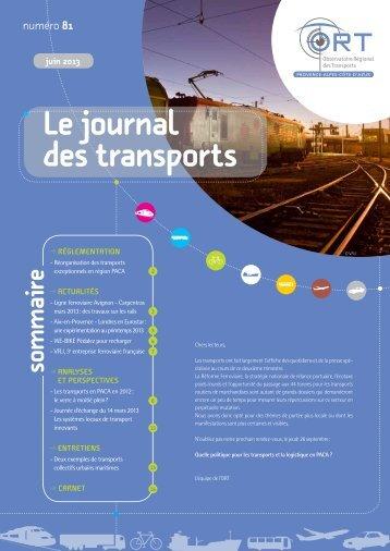 Le N° 81 du Journal des transports est paru - ORT PACA