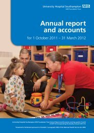 Annual report Oct 2011 to Mar 2012 - University Hospital ...