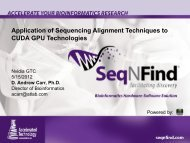 Application Of CUDA GPU Technologies To Sequence Alignment ...