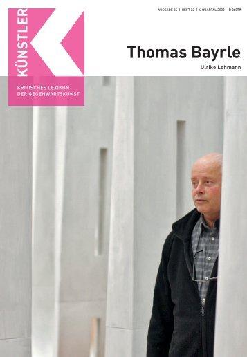 Thomas Bayrle B - Weltkunst