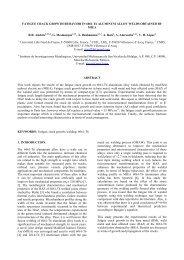 FATIGUE CRACK GROWTH BEHAVIOR IN 6061-T6 ALUMINUM ...