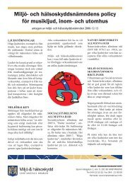 Policy för musikljud, inom och utomhus - Kristianstad