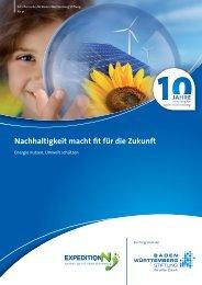 Nachhaltigkeit macht fit für die Zukunft - Baden-Württemberg Stiftung