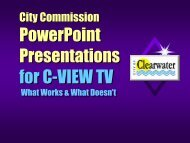 PowerPoint Presentations for C-VIEW TV - City of Clearwater