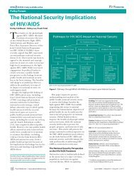 The National Security Implications of HIV/AIDS