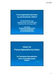 Klinik for Personlighedsforstyrrelser