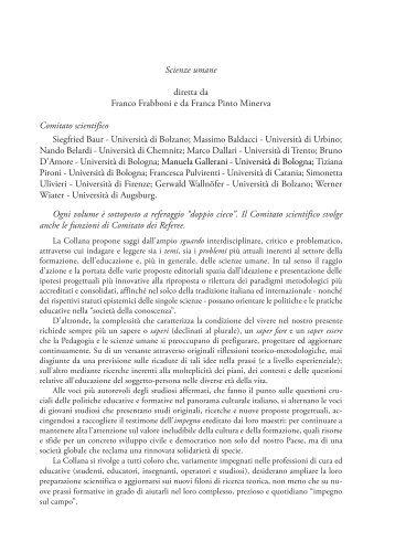 Scienze umane diretta da Franco Frabboni e da ... - Loffredo Editore