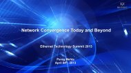 Network Convergence Today and Beyond - Ethernet Technology ...