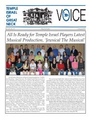 March 29 - Temple Israel of Great Neck