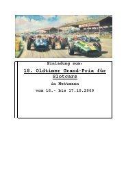 18. Oldtimer Grand-Prix für Slotcars