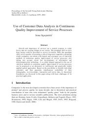 Use of Customer Data Analysis in Continuous Quality Improvement ...