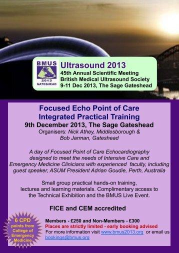 Programme - British Medical Ultrasound Society