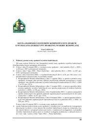 ocena zgodności systemów kominowych w oparciu o wymagania ...