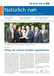 Ausgabe 2/2012 - VR-Bank Alb eG