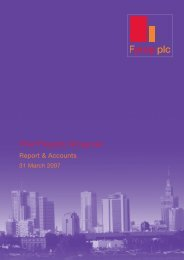 2007 Annual Report & Accounts - First Property Group plc
