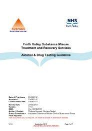 Alcohol & Drug Testing Guideline - NHS Forth Valley