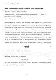Novel methods of Permeability Prediction from NMR Tool Data, 2002
